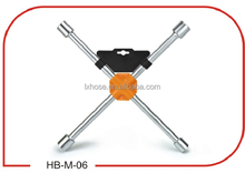 High Quality CR-V Full Polished Cross Rim Wrench