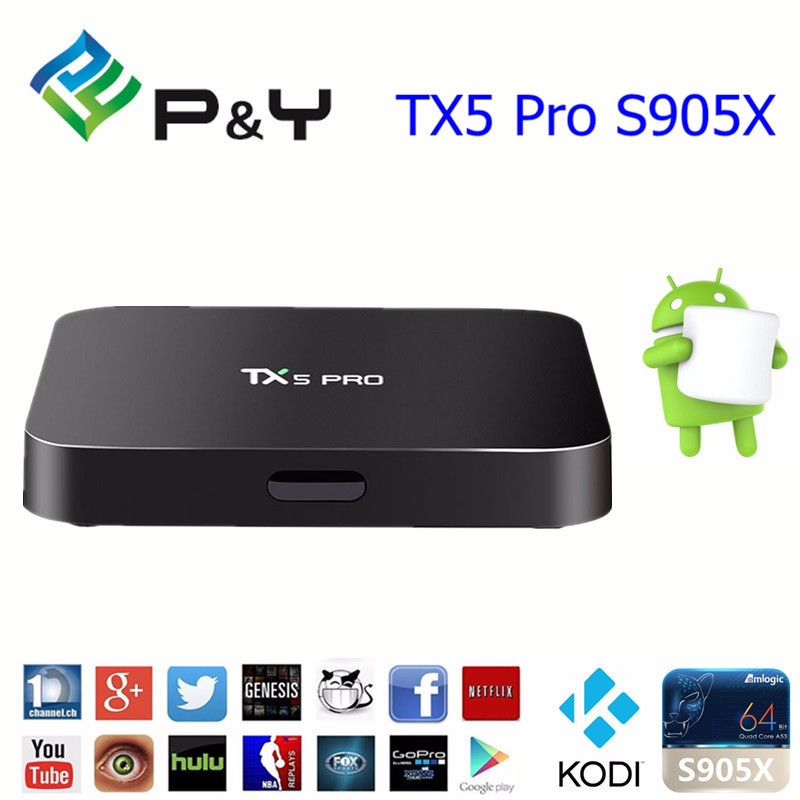 Full stock y Amlogic S905X TX5 Pro S905X 2G 16G Android tv box digital satellite receiver accept OEM