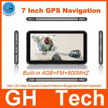 Bluetooth/Avin 7inch Auto GPS Navigation HD for Russian / Hebrew / Turkish/ Russia/ Ukraine/ Belarus with Nativel Map