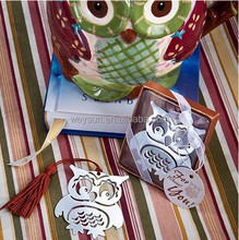 Marcapaginas Owl Book Markers Birds With Tassels Metal Bookmark Stationery For Kids Gift