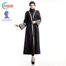 Zakiyyah E009 with stripes designer cuff abaya from moroccan kaftan dress long cardigan fashional burqa for sale
