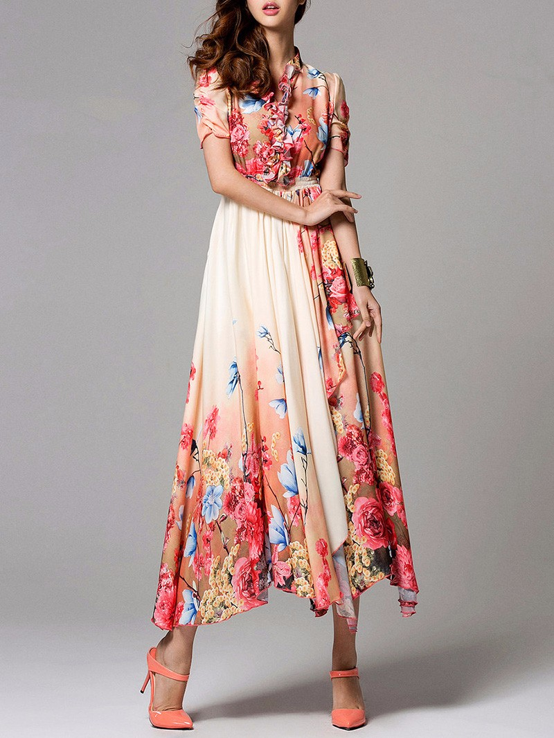 2016 Plus size fashion women summer clothing long bohemian chiffon maxi dress