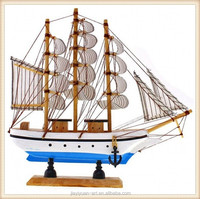 Factory Price of Wooden Crafts Antique Wooden Ship Model, Nautical Crafts for Home Decoration