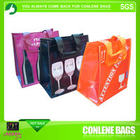 6 bottles wine supermarket carrier bag pp