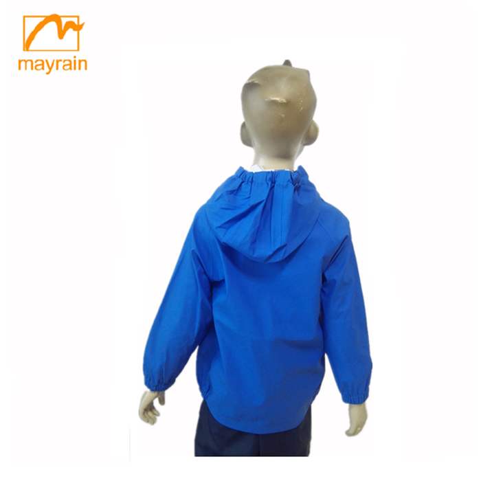 Girl Clothing Hoody Bule Foldable Breathable Child Rain Coat