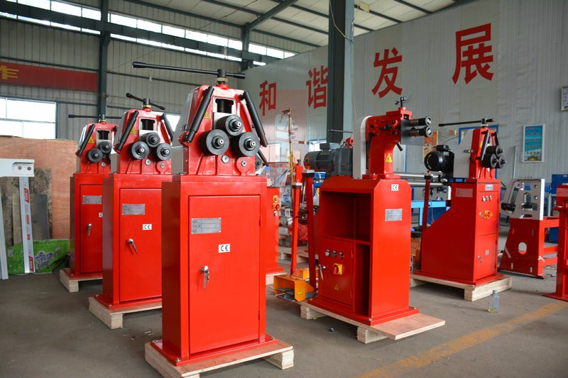 manual flat bar roller machine