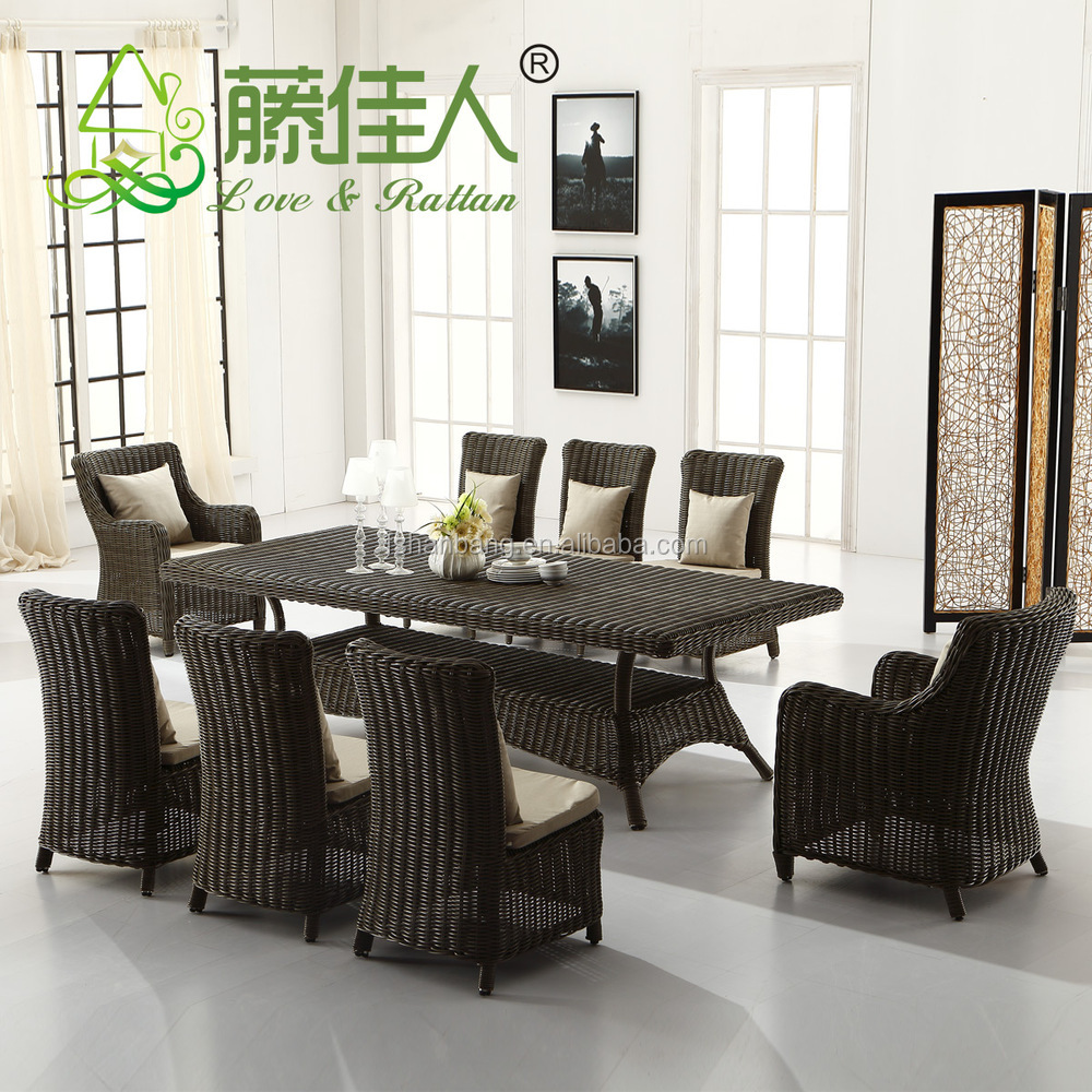 Outdoor Resin Rattan Wicker Woven Terrace Dining Lounge Settings Lounge Around Furniture