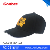 2016 HK Autumn Fair Sport bluetooth hat and cap men with headset made in China
