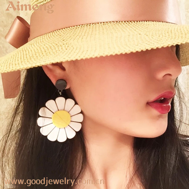 Simple fashion new round earrings for women