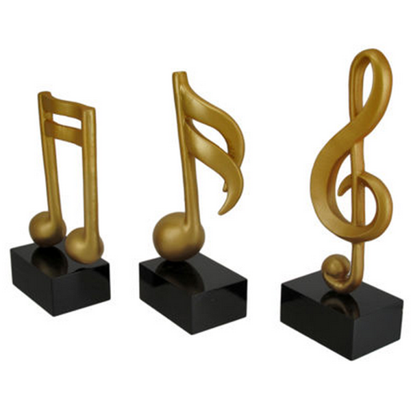 Musical Note Decorative polyresin statue stand