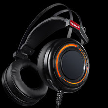 high quality Headset Stereo Cool Gaming Wired Headphone with Microphone