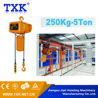 Roof Pulling Cargo Lifting stationary scissor lift table/electric hoist 1000kg