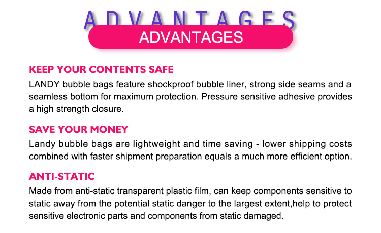 Packing Air Bubble Bag With Self-adhesive For Shipping Protect
