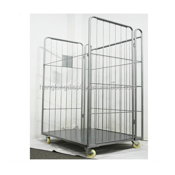 Warehouse Metal Foldable cargo trolley