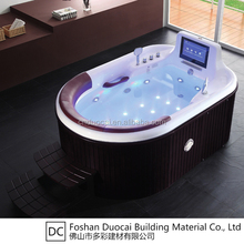 Luxury Modern Free Standing Jet Whirlpool Bath Tubs with TV (CA-F7068)