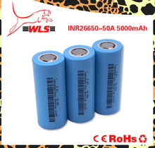Best price wholesale high capacity 5000mAh INR 26650 50a 3.7v recharge lithium ion battery