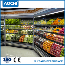 Hot sale Hypermarket commercial fruit&vegetable upright multideck display cooler with CE certificate