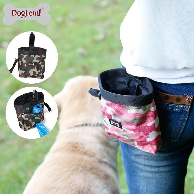 Dog Treat Bag Pouch for Training, Carries Treats and Toys, Dog Food Dispenser