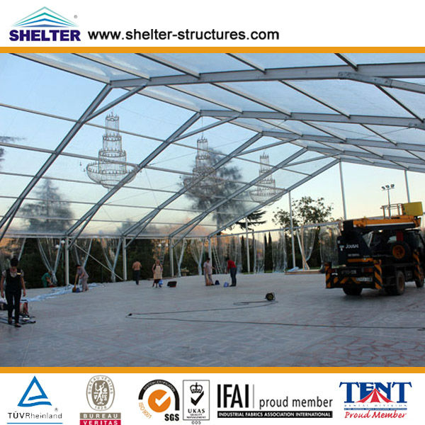 beautiful mobile wedding clear/transparent tent/PVC&aluminum 6082/T6 marquee party Christmas wedding tent