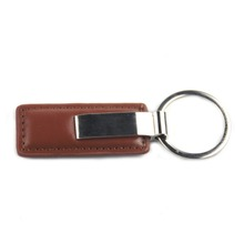 China factory supplier promotional high quality customized blank car brand leather key chains