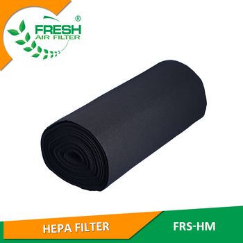 China suppliers activated carbon filter media roll or organic exhaust filter purification carbon fiber fabric