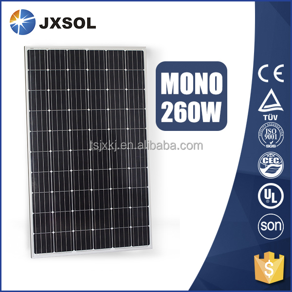 chinese pv supplier mono solar panel 260w pv solar panel price