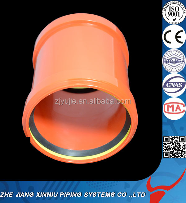 Made in China OEM Zhejiang factory direct PVC pipe fittings High quality PVC socket Orange color