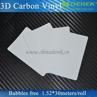 Durable 1.52*30m Air Free Bubbles 3D Carbon Fiber Vinyl/3D Carbon Fiber Sticker 1.52*30m