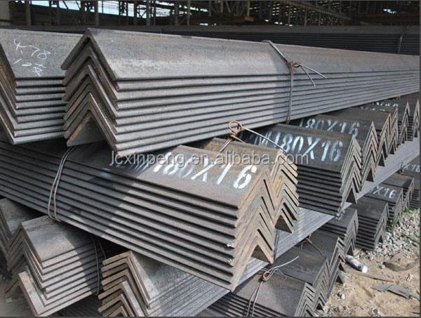 Manufacture supply A53 SS400 MS equal black & galvanized angle iron steel