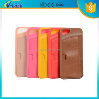 Hot selling cheap 4.7 inch TPU case with PU leather card slot custom leather case for iPhone 6