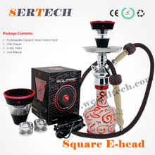 2016 fashion leader e hookah head electric e shisha hookah square e head wholesale from China