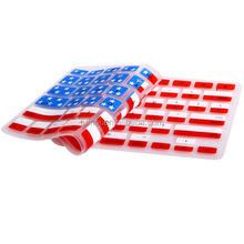 Hot Selling Premium US Flag UK Flag Silicon Keyboard Skin Protector Cover For Apple Macbook