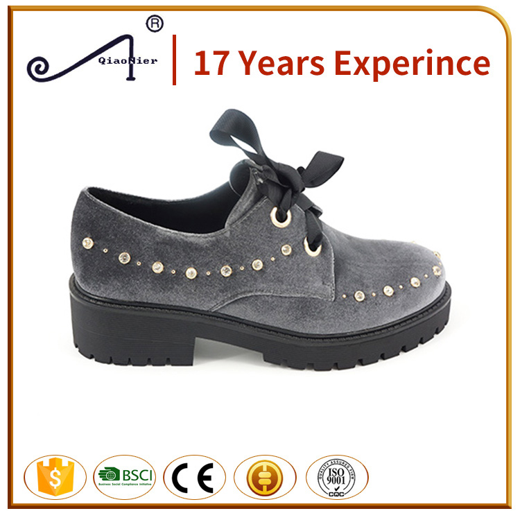 factory price platform shoes PU winter footwear shoes for women