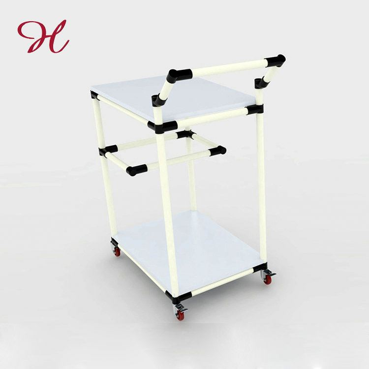 Custom Promotional New Fashion Pipe Rack Table Trolley Cart