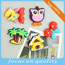 high quality micro injection Spain bird shape pvc souvenir animal fridge magnet for fridge decor