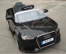 Hot Sell licensed toys electric cars Audi A3 selling driving toy for kids toys with R/C and LED lights