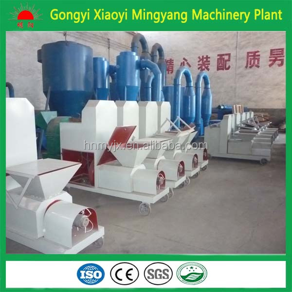 Factory Non-binder wood sawdust brick briquette making machine 008618937187735