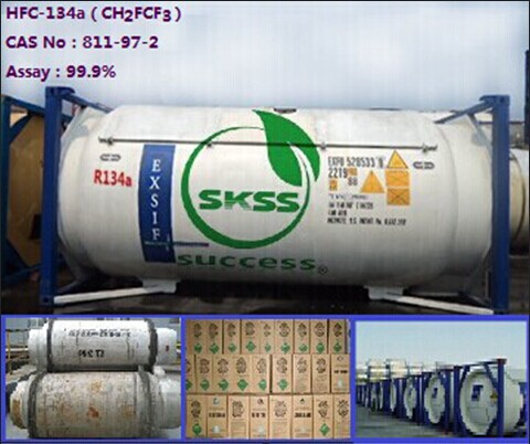 Efficient Superior refrigerant r134a gas tetrafluoroethane