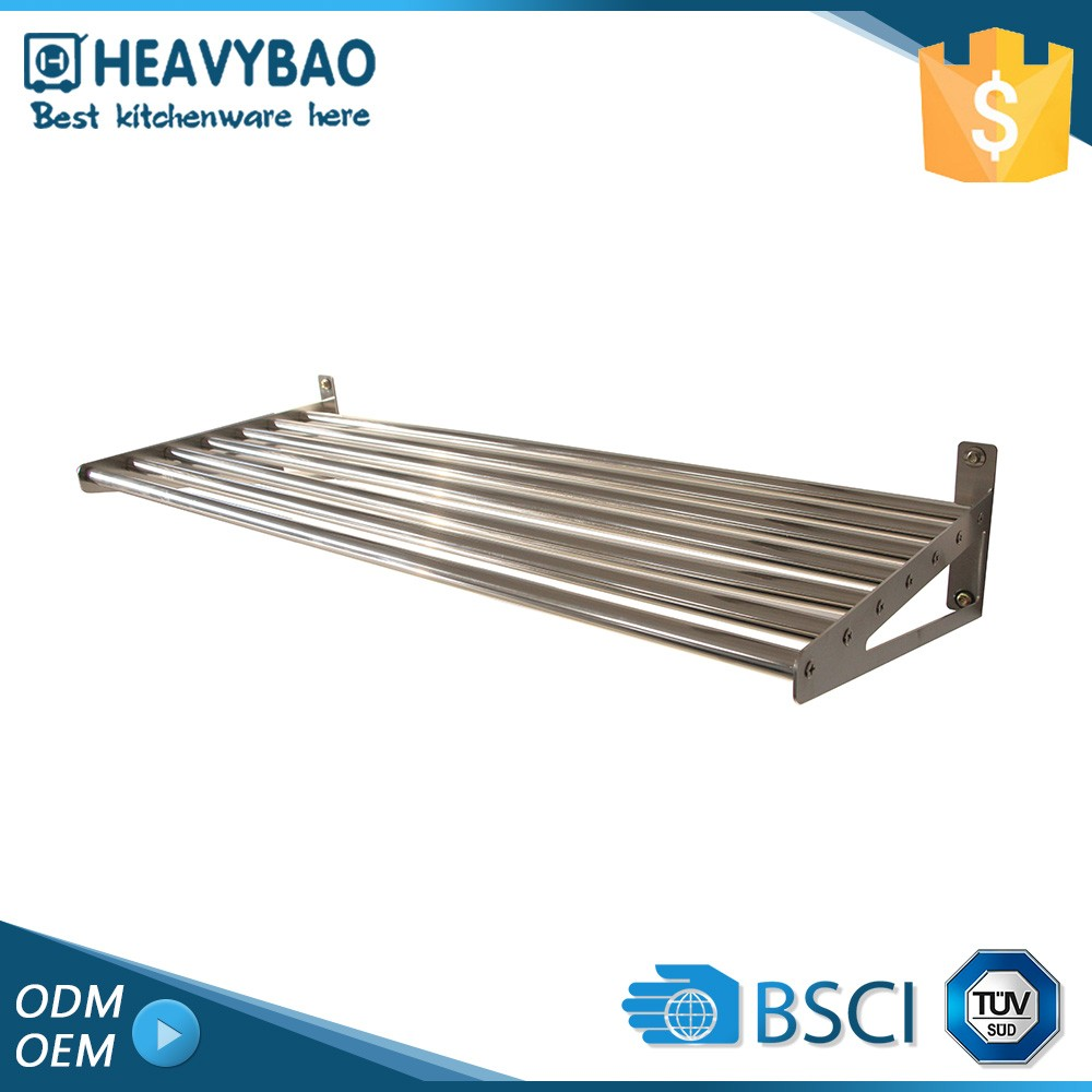 Heavybao Premium Quality Knock-down Structure Bracket Round Metal Clothes Folding Towel Rack