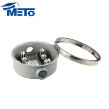 METO dual aluminum 100a 4jaw single phase round electric meter socket meter base box