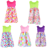 2017 new style summer patterns boutique children fashion design sleeveless ruffled small cute fashion baby girl summer dress