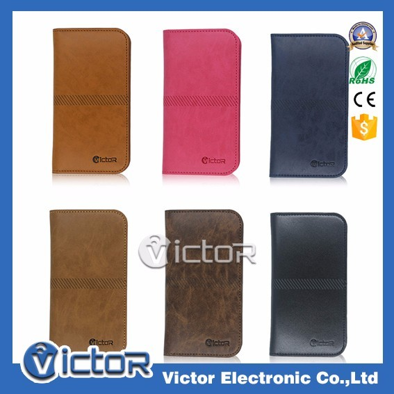 High quality universal leather wallet case for Huawei for LG for Samsung