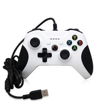 White wired controller for xbox one/one s/PC game console with USB cable 3.5mm audio jack