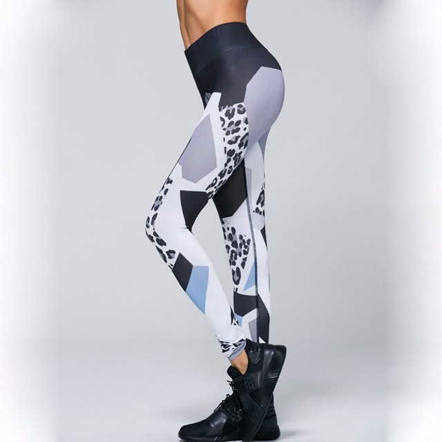 Yoga Pants Women High Waist Leopard Pattern Skinny Slim Gym Fitness Workout Leggings Tights For Joggers