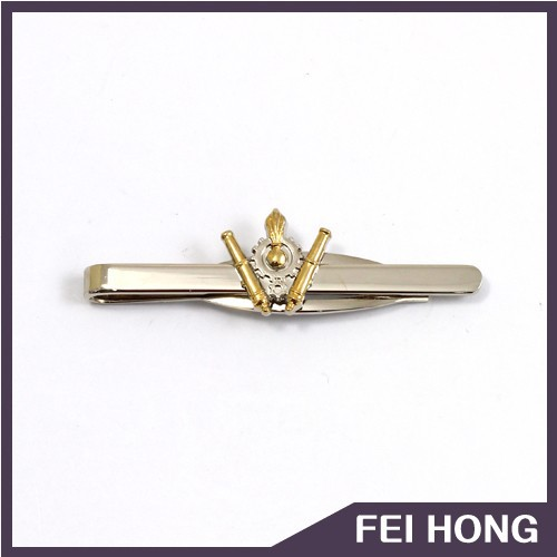 New design high grade fashion plating gold men tie clips