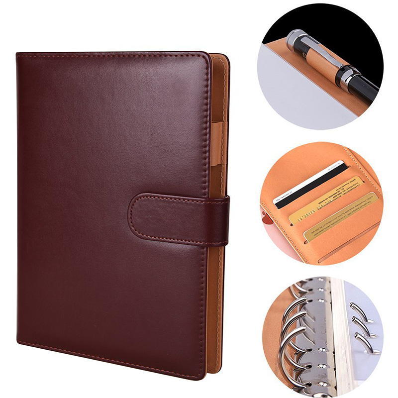 Premium refillable journal Leather Notebook Writing Journals Hard Cover