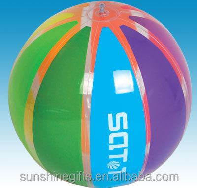 Sticker cartoon logo Inflatable plastic ball with custom logo