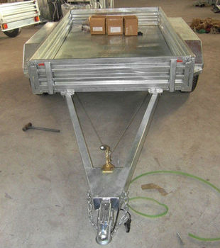 8x5FT Heavy duty hot dipped galvanized tandem box trailer, utility trailer