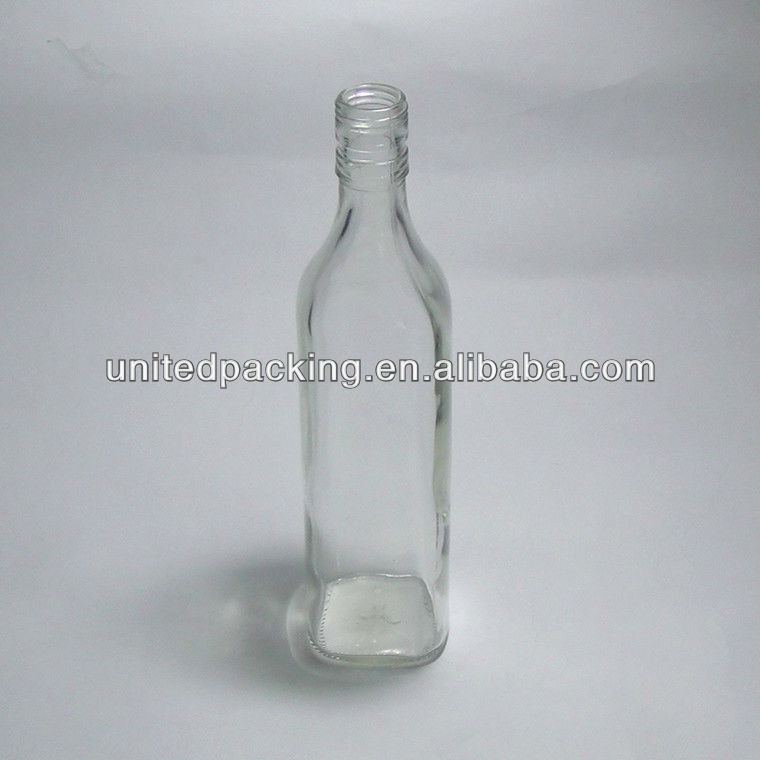 500ml square glass bottle for tequila