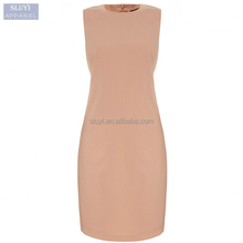 dresses ladies elegant fashion sleeveless Nude color short high waist xxl size women casual dress women